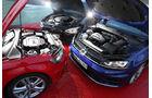 Audi S3 Sportback, BMW M135i xDrive, VW Golf R, Motor