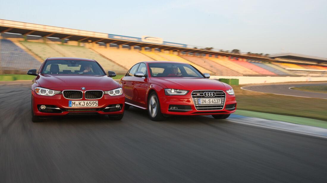 Audi S4 3.0 TFSI, BMW 335i Sport Line, Frontansicht