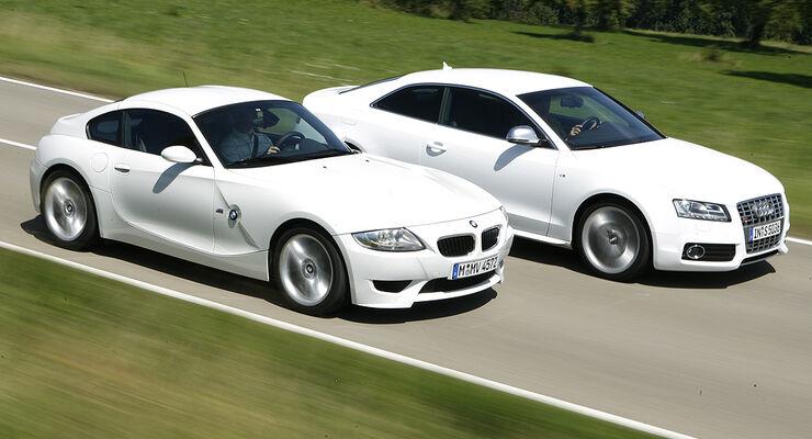 Audi S5, BMW Z4 M Coupé