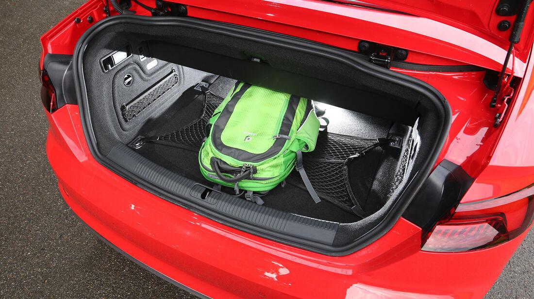 Audi S5 Cabrio, Kofferraum