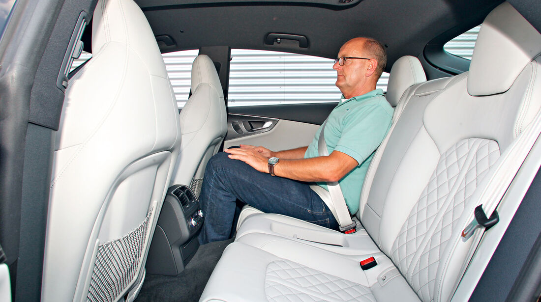 Audi S7 Sportback, Rücksitz, Beinfreiheit