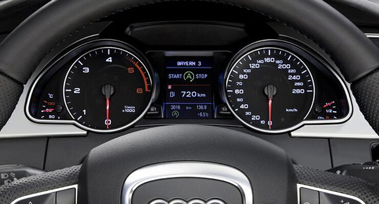Audi Start-Stopp-System Display