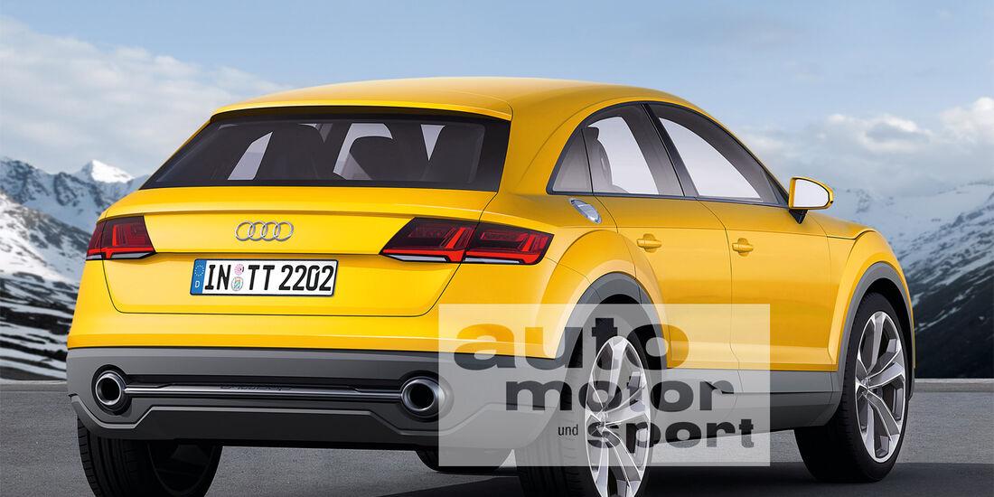 Audi TT Offroad, Heckansicht