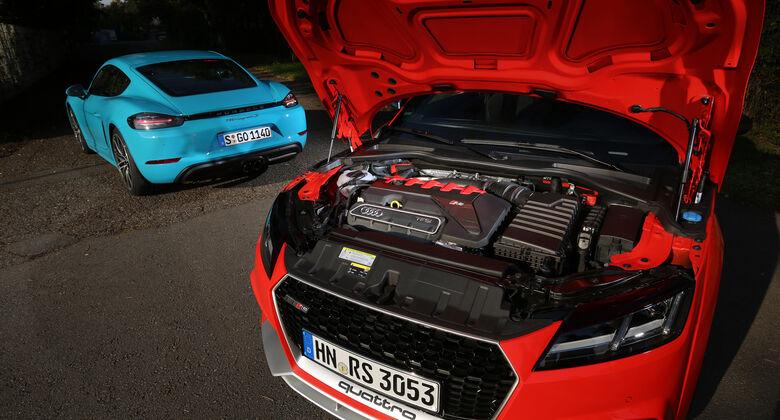 Audi TT RS Coupé, Porsche 718 Cayman S, Motor