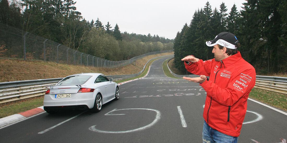 Audi TT RS, Heckansicht, Marcus Winkelhock