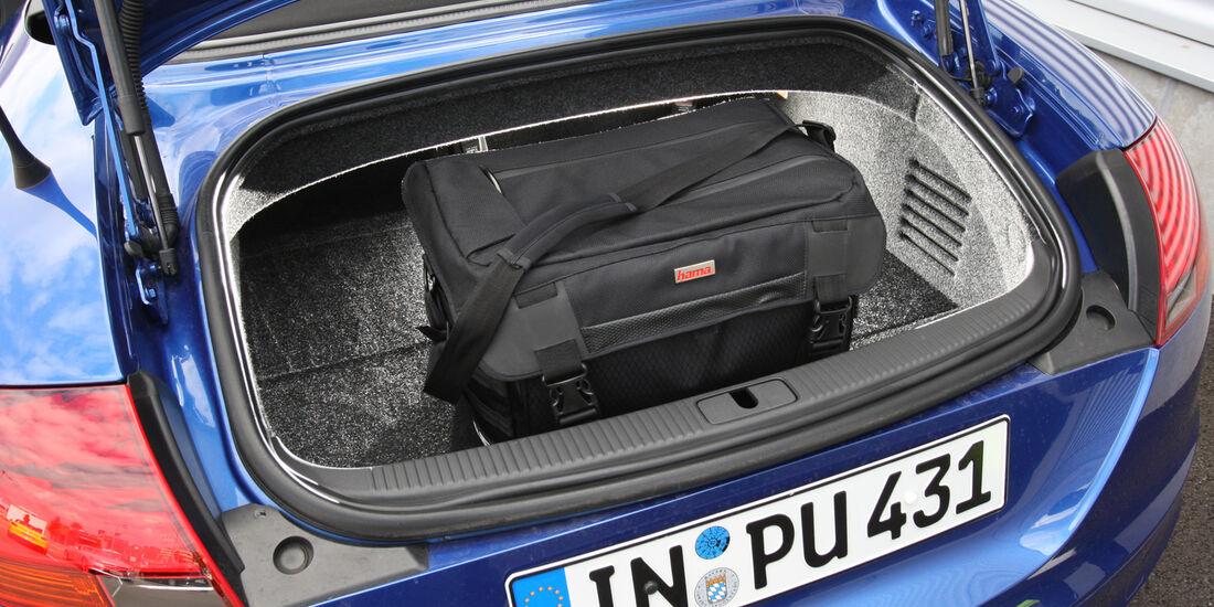 Audi TT Roadster, Kofferraum