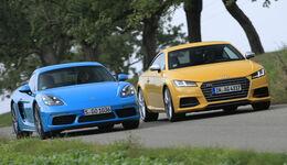 Audi TTS, Porsche Cayman