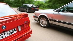 Audi V8, BMW M 3, Mercedes 190 E 2.5-16 Evo II, Seitenansicht