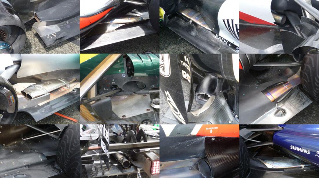 Auspuff Collage GP England 2011