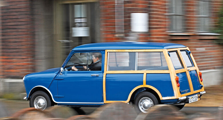 Austin Mini MK II Countryman, Seitenansicht