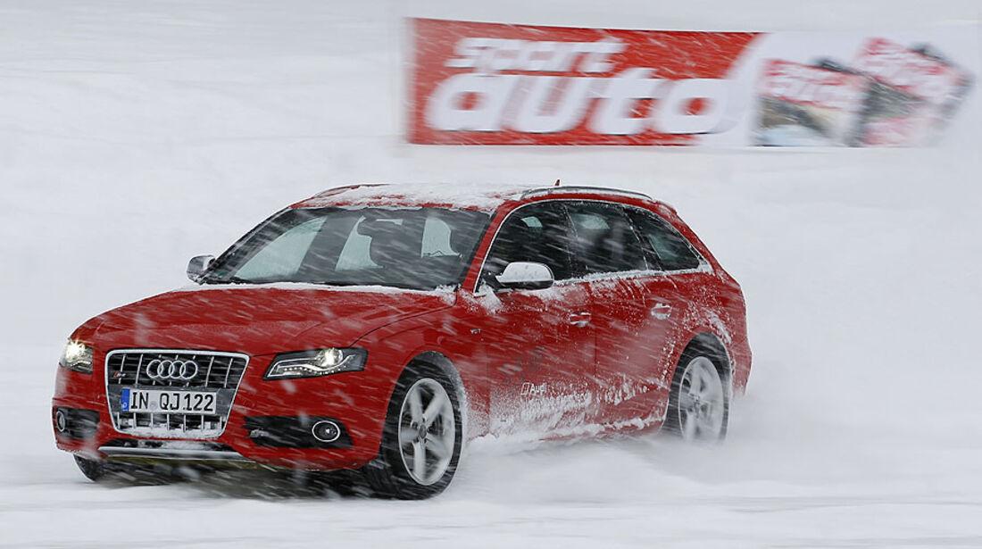 Auto & Ski 2011, Audi S4, Seite, Front, Schnee