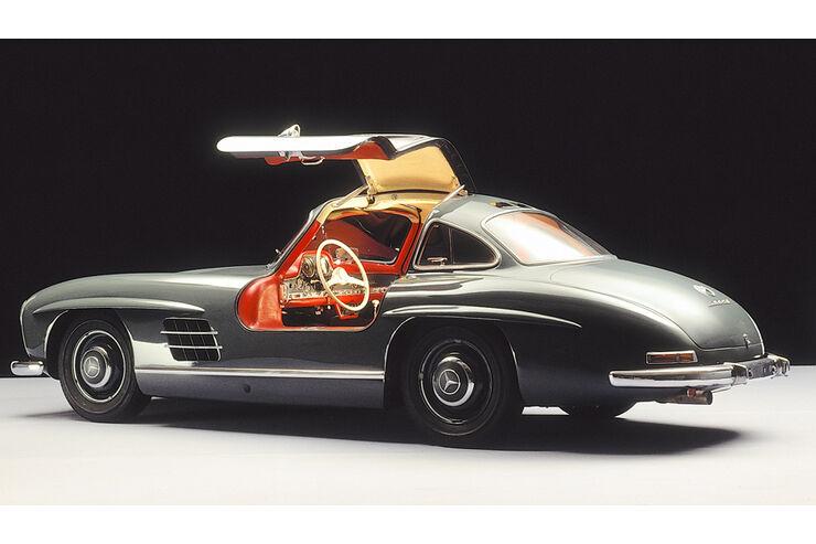 Automobil-Design, Mercedes 300 SL, Flügeltür, Seitenansicht