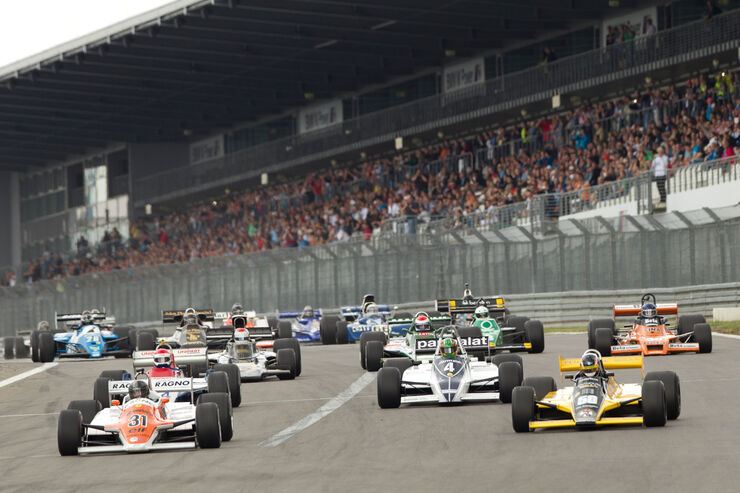 AvD-Oldtimer-GP, Formel-1-Autos, Start