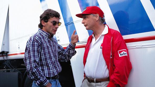 Ayrton Senna & Niki Lauda - GP San Marino 1994