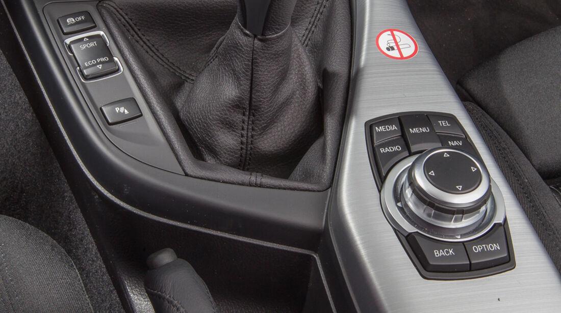 BMW 114d, Schalthebel, Schaltknauf