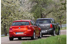 BMW 116d, Mini Countryman Cooper D, Heck