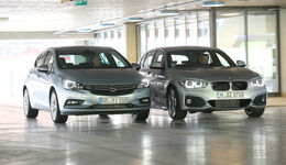 BMW 118d, Opel Astra 1.6 Biturbo CDTI, Frontansicht