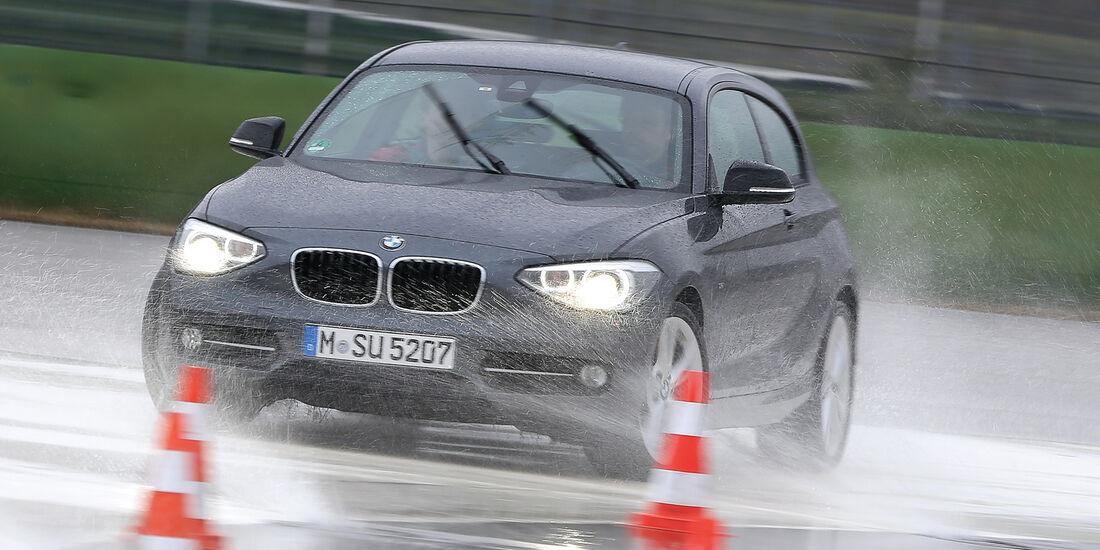 BMW 120d, Aquaplaning