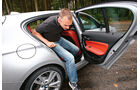 BMW 120d Sport Line, Ausstieg, Fond