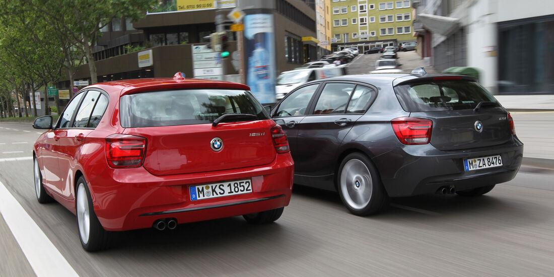 BMW 125i, BMW125d, Heck
