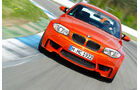 BMW 1er Coupe, Frontansicht, Kurve, Teststrecke