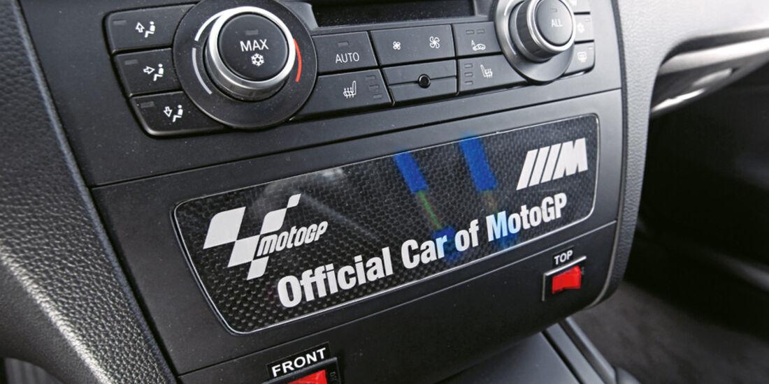 BMW 1er M Coupé, Mittelkonsole