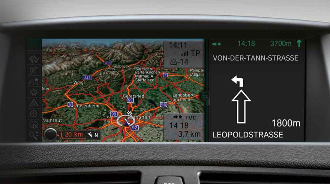 BMW 1er, Navigationssystem