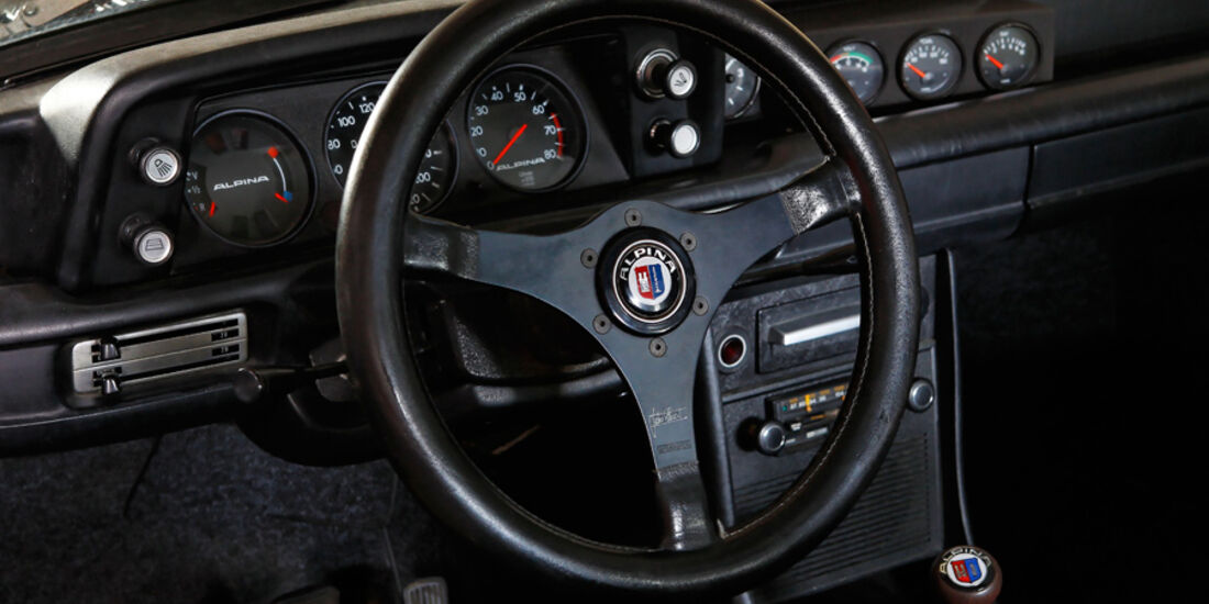 BMW 2002 tii Alpina, Lenkrad, Cockpit