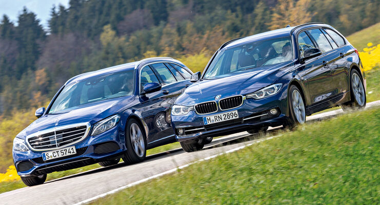 Bmw 318i Touring Und Mercedes C160 T Im Test Auto Motor Und Sport