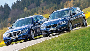 BMW 318i Touring, Mercedes C 160 T
