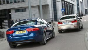 BMW 320d, Jaguar XE 20d, Heckansicht