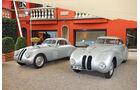 BMW 328 Touring-Coupé und BMW 328 Kamm-Coupé (rechts) auf der Villa d'Este