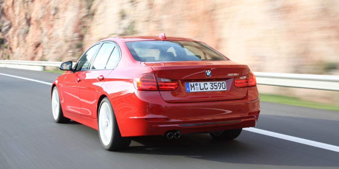 BMW 328i, Heck