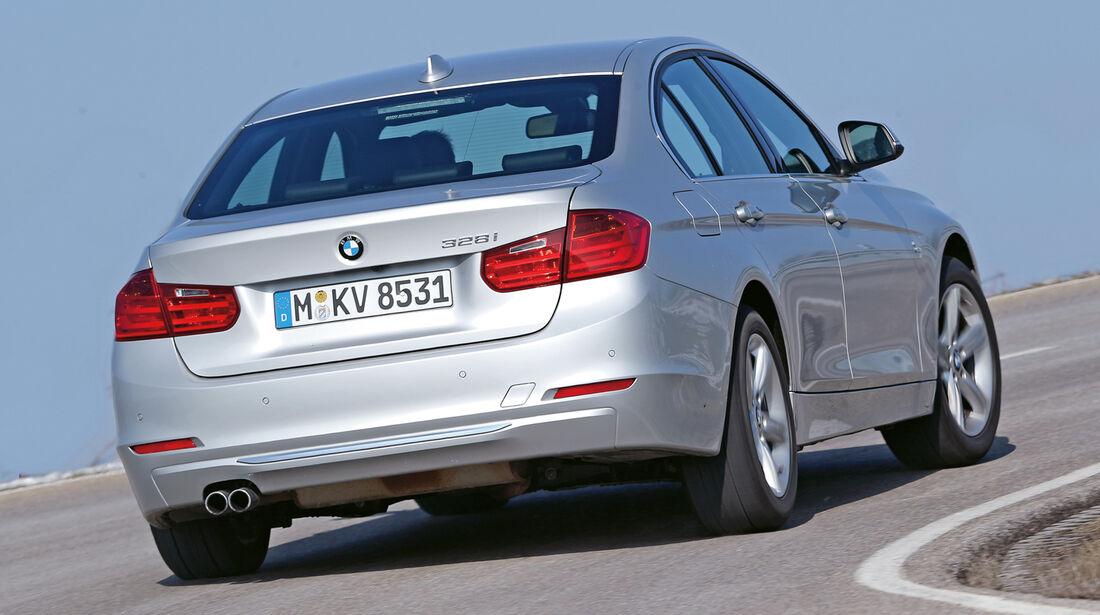 BMW 328i, Heckansicht