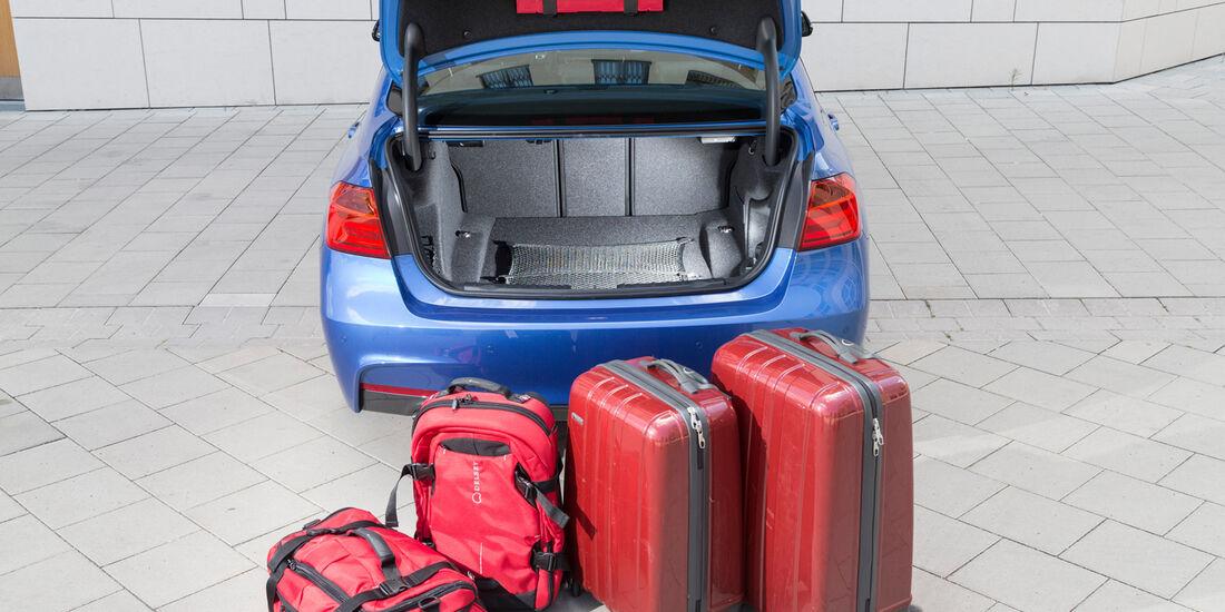 BMW 328i, Kofferraum, Volumen