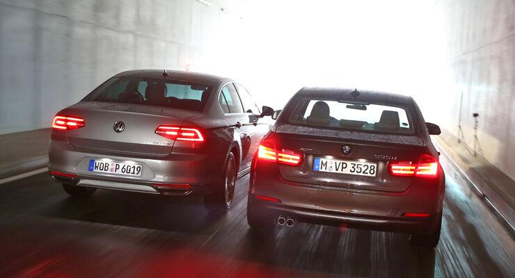 bmw 330d und vw passat 2.0 tdi: test auf der rennstrecke - auto