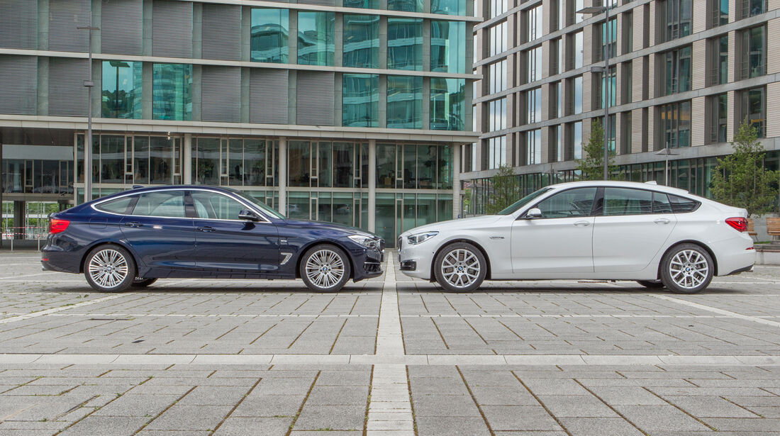 BMW 335i Gran Turismo, BMW 535i Gran Turismo, Seitenansicht