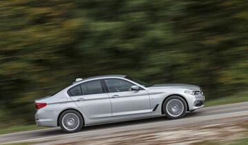 BMW 520d, Exterieur Seite