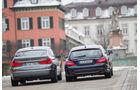 BMW 520d GT, Mercedes CLS 250 CDI SB, Heckansicht