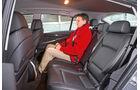 BMW 520d Gran Turismo, Rücksitz, Beinfreiheit