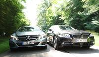 BMW 520d, Mercedes E 220 CDI, Frontansicht