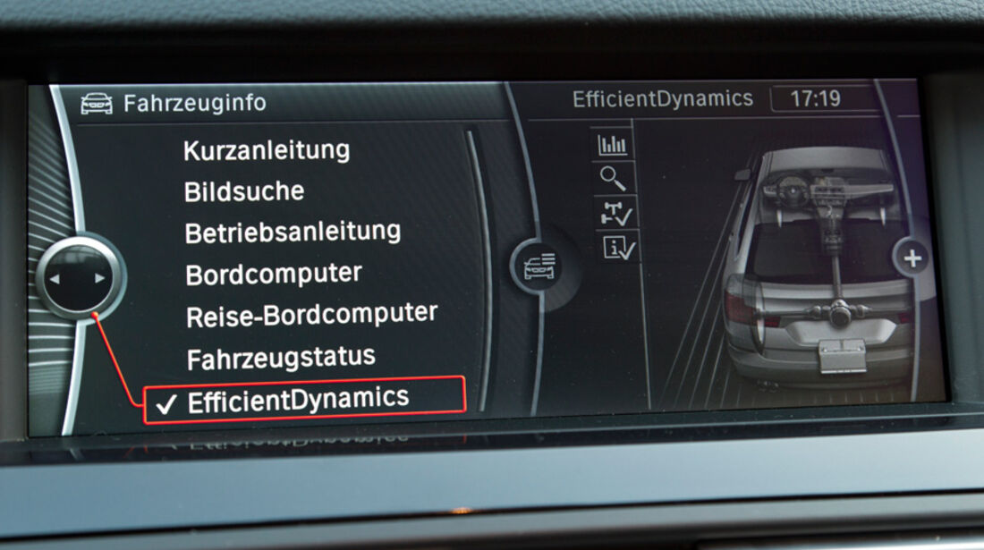 BMW 520i Touring, Display
