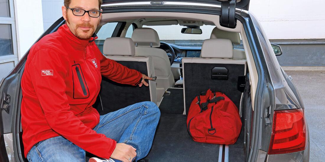 BMW 528i Touring, Kofferraum