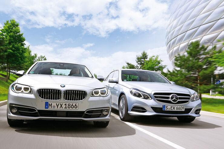 BMW 530d, Mercedes E 350 Bluetec, Frontansicht