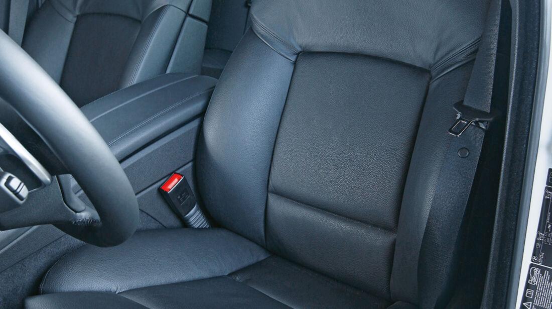 BMW 550d xDrive, Fahrersitz, Ledersitz