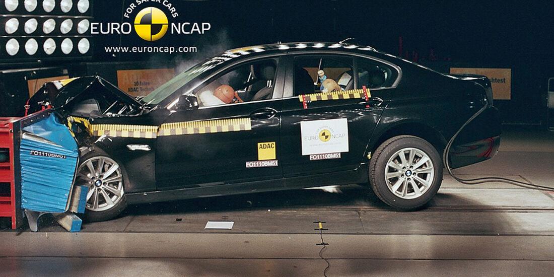 BMW 5er EuroNCAP-Crashtest Frontalcrash