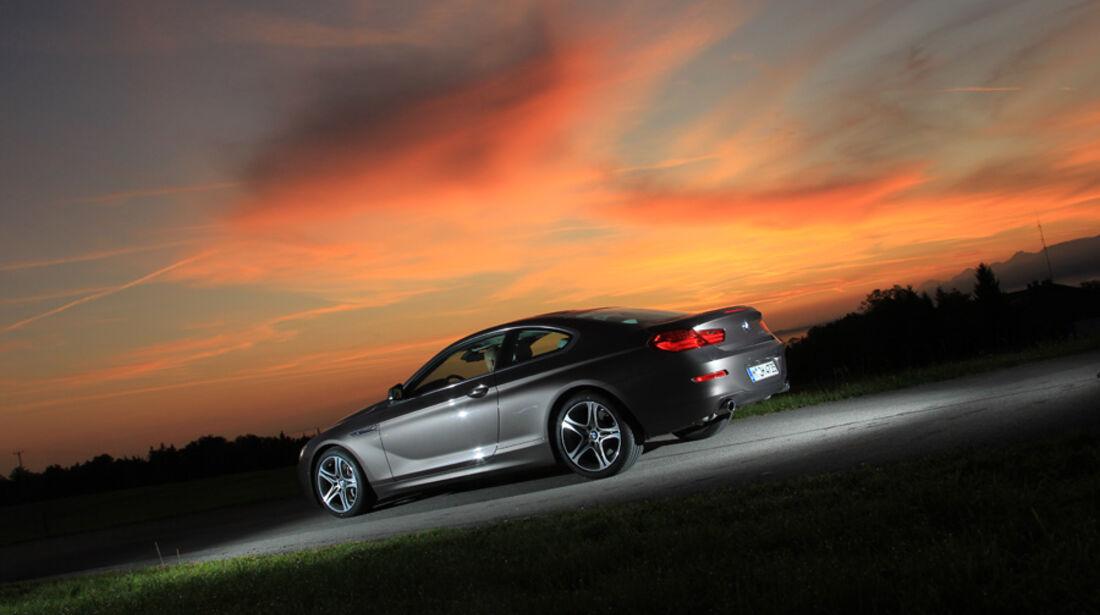 BMW 640i Coupe, Seitenansicht, Abendlicht