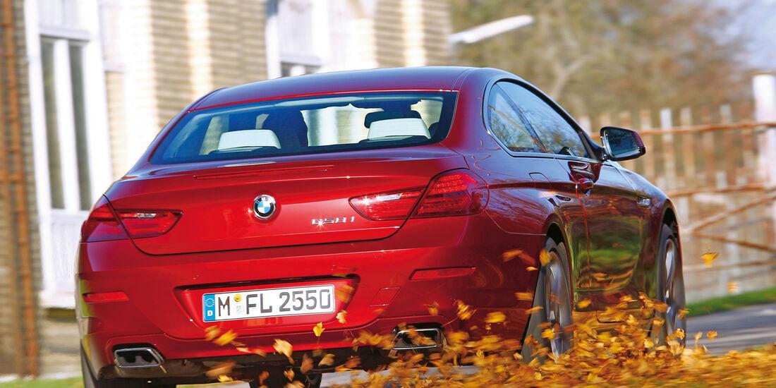 BMW 650i Coupé, Maserati GranTurismo Sport, Heckansicht