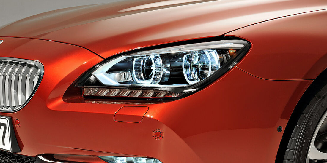 BMW 6er Coupé, Scheinwerfer, Kühlergril