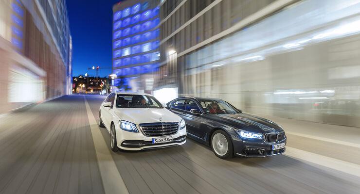 Mercedes S450 4matic Gegen Bmw 740i Vergleichstest Auto Motor Und